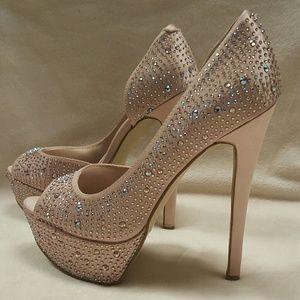 Bakers studded rhinestone heels